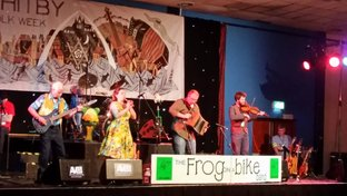 Frog on a Bike ceilidh band at Whitby Folk Week